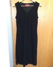 Monsoon Ladies Size 12 Black V Neck Dress Tea