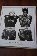 Andy Warhol and Jean Michel Basquiat by Michael Halsband Art Print Poster 24x30