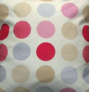 Chic pink and blue dotty fabric 1m
