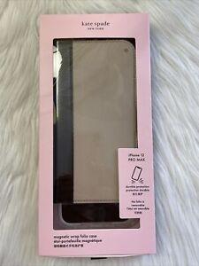 New Kate Spade Stacie Mag Folio iPhone 12 Pro Max magnetic wrap folio case