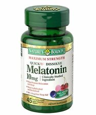 Nature's Bounty Melatonin 10 mg Quick Dissolve Tablets 45 ea (Pack of 2)