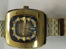 VINTAGE ANDRE RIVALLE 17JEWELS MECHANICAL  MENS WATCH SWISS(042)