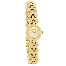 Seiko Ladies Champagne Dial Gold Tone Bracelet Quartz Watch SXJG80