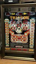 """Authentique  Machine à sous murale ALLEMANDE 3 Disques """"Trianon"""" (jn60)"""