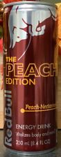 NEW RED BULL THE PEACH EDITION NECTARINE ENERGY DRINK 8.4 FL OZ (250mL) FULL CAN
