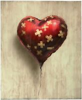 """BANKSY """"Heart"""" Street Artwork/Print on Glossy Paper or Canvas"""