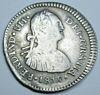 1810 NG M Spanish Guatemala Silver 1 Reales Antique 1800s Pirate Coin