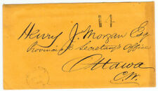Canada stampless cover - 1866 Kingston to Ottawa - Henry J. Morgan - XF