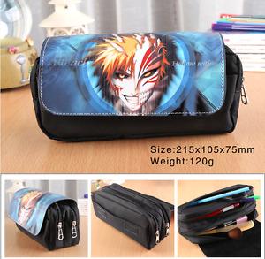 Anime Bleach Pen Pencil Case Zipper Stationery Make Up Bag box cosplay