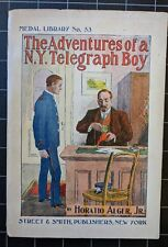 Number 91 by Horatio Alger Medal Library 53 1889 1900 Adventures Telegraph Boy