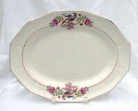 French China Company Martha Washington Platter Bird Pheasant Blue Pink Flowers