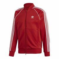 Details about [BQ0768] Mens Adidas SST Superstar TT Track Top Jacket Washed Out Red