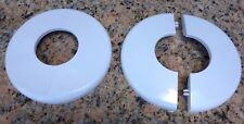 Set Of 2 White Swimming Pool Deck Ladder Hand Rail Split Escutcheon Plate Cover