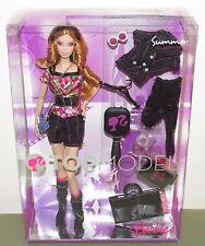 2007 Top Model Summer Barbie NRFB #M3233 Model Muse Strawberry Blonde Curls