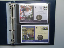 Celebrating A Royal Year - Coin Cover Collection - 10 One Crown Coin Covers