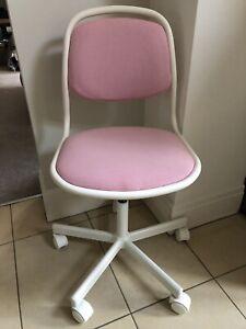 Ikea ÖRFJÄLL swivel chair kids white/pink