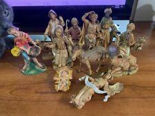 Vintage Fontanini Nativity Set 11 pieces Manger Creche Italy Depose 1983~L@K!