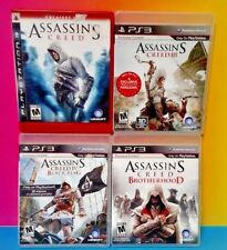 Assassin's Creed I, III, IV, Brotherhood PS3 Sony Playstation 3 4 Game Lot