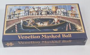 Venetian Masked Ball Cats Puzzle 1000 Piece by Linda Jane Smith - New and Sealed