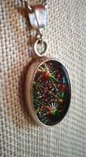 FANTASTIC HANDCRAFTED STERLING SILVER AND DICHROIC GLASS PENDANT