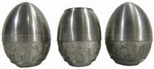 Thai Oriental Pewter Salt Pepper Shakers Toothpick Holder Trio Set