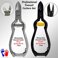 Toe Nail Clippers Cutters Heavy Duty Plier Chiropody Podiatry with Barrel Spring