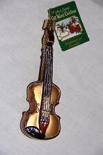 Violin Old World Christmas Glass Blown Tree Ornament