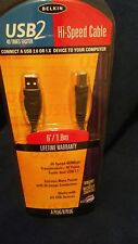 Belkin USB 2 High Speed Cable -6FT 480Mbps Windows/Mac Compatible NEW