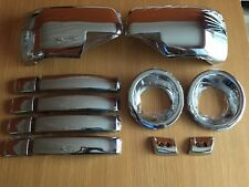CHROME COVER SET FITS LAND ROVER DISCOVERY 3 LR3 2006-2009 HANDLES FOG FULL WING