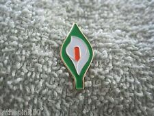 "Large Easter Lily Pin Irish Freedom Badge Tri-Color Ireland New 1"" Size"