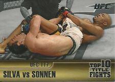Anderson Silva Chael Sonnen 2011 Topps UFC Title Shot Top 10 Title Fights # TT6