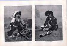 1876 Young Italian Fruit Seller Boy Playing Flageolet Poor Peasantry