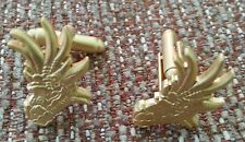 Smaug Dragon Head (misty gold plate) Cuff Links - Game Of Thrones Hobbit Dragon