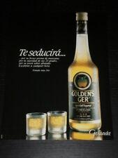 GOLDEN´S GER - LIQUOR LICOR - AD PUBLICITE ANUNCIO - SPANISH - 2648