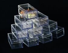 RECTANGLE CLEAR ACRYLIC GEM BOXES 10 QTY