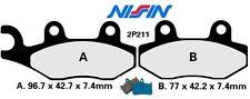 Jeu de 2 plaquettes de frein Nissin Japon TRIUMPH TRIDENT 750 900  1992 - 1998