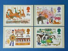 Set of 4 PHQ Stamp Postcards Set No.70 British Fairs 1983 FV8