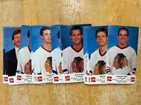 1988-1989 Chicago Blackhawks Coke Team Issue Set of 25 Cards NHL Sealed