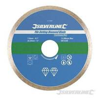 Silverline Tile Cutting Diamond Disc 110mm x 22.2mm 13300rpm Max Angle Grinders