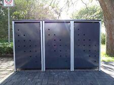 3 Mülltonnenboxen Modell No.3 Anthrazitgrau für 120 Liter Mülltonnen