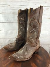 Old Gringo Western Cowboy Boots Women's Embroidered Stitched US 7.5 B Distressed