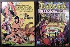 Tarzan l'ile hors du temps + le lac du temps Manning Ed. Hachette 1974 TTBE