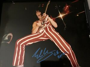 Eddie Van Halen Signed Color 11x14! Rare!  In person!