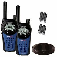 COBRA MT975 MICROTALK WALKIE TALKIE RADIOS TWIN PACK RECHARGEABLE 9 MILES RANGE