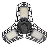 60W E27 Deformable 144LED Garage High Bay Licht Deckenleuchte Flutlicht 85-265V