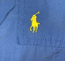 Polo By Ralph Lauren Mens Blue Swim Trunks Size L Large Lined Cargo Yellow Pony
