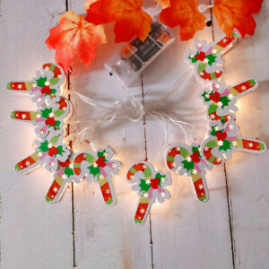 10ft 20LED Candy Cane String Light Twinkle Lights Battery for Xmas Wedding Decor