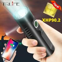 Powerful 200000lm XHP90 L2 T6 LED Flashlight USB Rechargeable Torch Light 3Modes