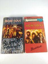 Lot of (2) Bon Jovi VHS Breakout Slippery When Wet Videos