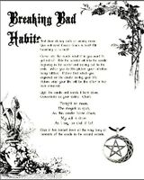 Wicca Book of Shadows Pagan Occult Ritual to Break Bad Habits or Addictions
